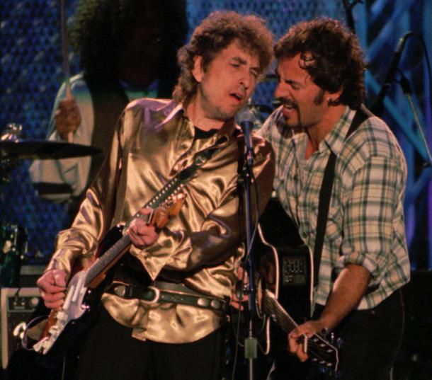 Bob Dylan e Bruce Springsteen a Cleveland, 1995 © Foto AP