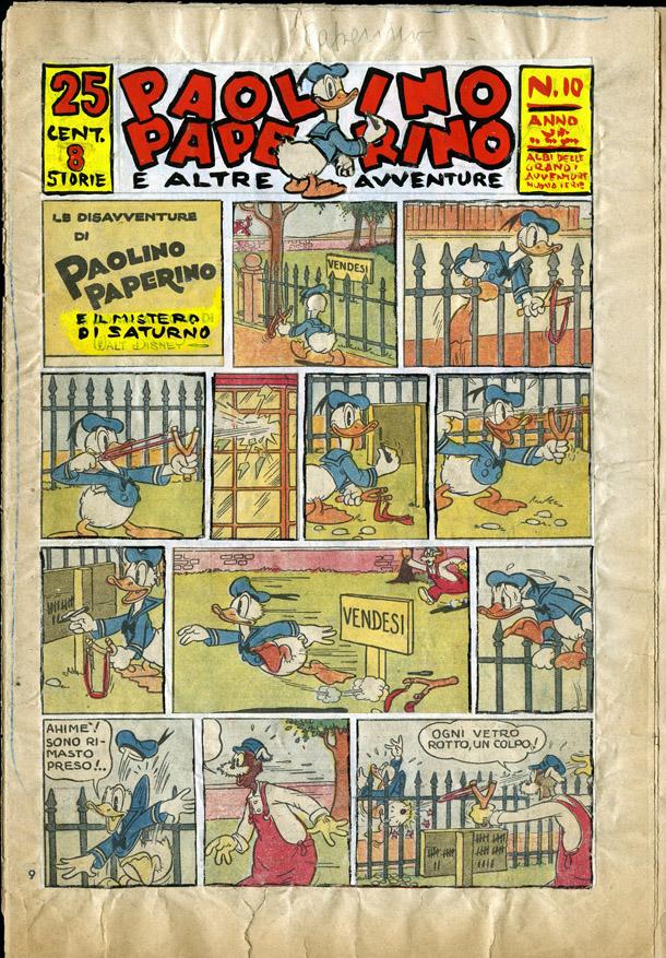 1937, Menabò del giornale Paperino, prima testata al mondo dedicata Paperino di Federico Pedrocchi