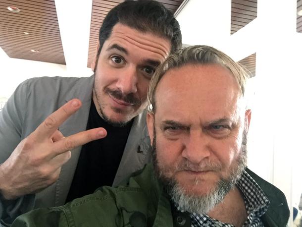con Gabriele Mainetti