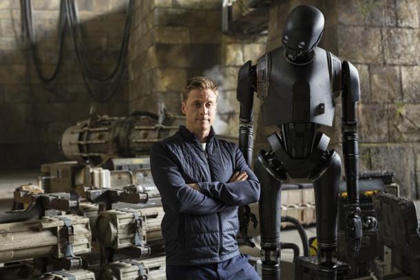 "Alan Tudyk sul set di ""Rogue One"""