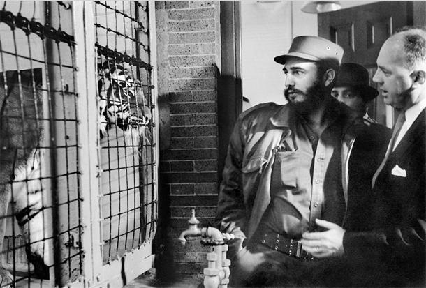 Fidel visita USA Zoo en New York !959