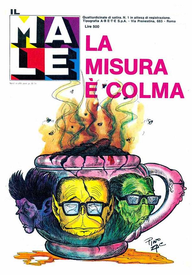 Il Male, Pino Zac. Mostra '77 Anno Cannibale